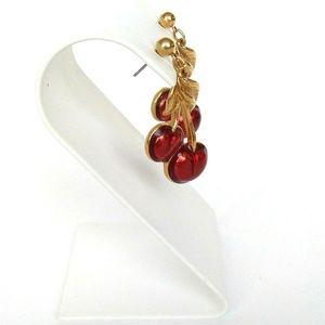 Avon Jewelry - Avon Red Cherry Earrings
